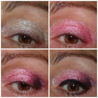 maquillaje de ojos rosa para fin de año