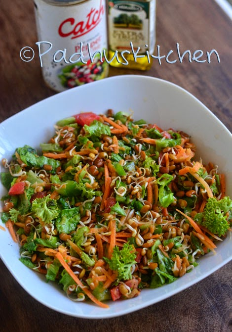 Horse gram sprout salad