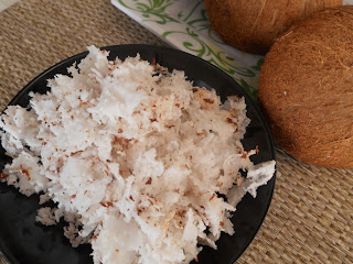 shredded mature coconut meat