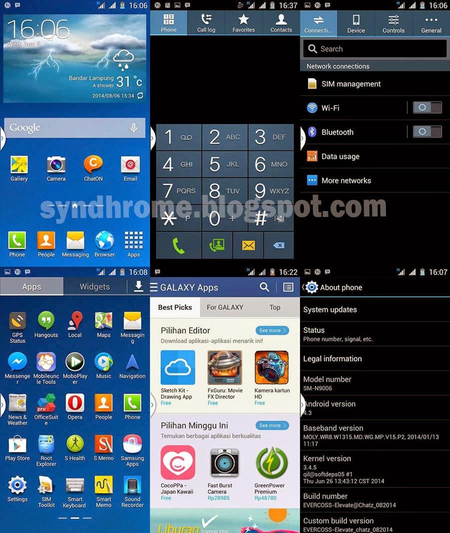 Cara Install ROM Samsung Galaxy Note 3 di Evercoss A66A Terbaru | Super Mirip!