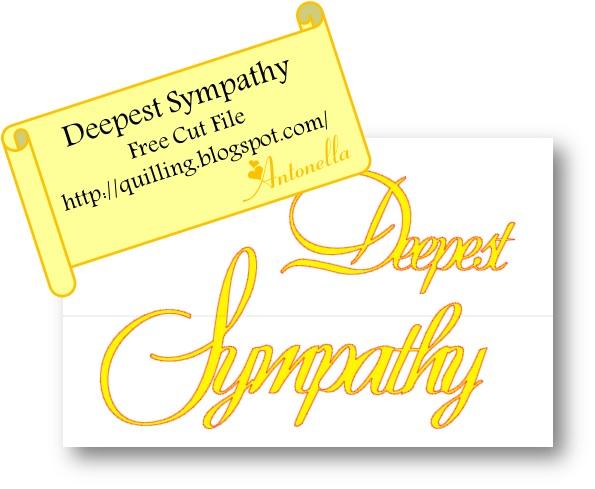 Deepest Sympathy Silhouette Cut File Freebie