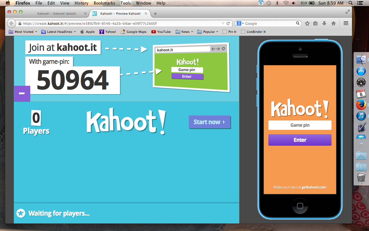 kahoot play this quiz now lobster house