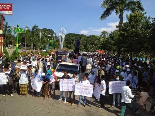 Tolak Faham Wahabi, Gesper Demo Takmir Masjid Ridwan