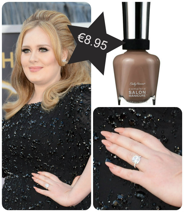 Adele wearing Sally Hansen Complete Salon Manicure in Cafe Au Lait