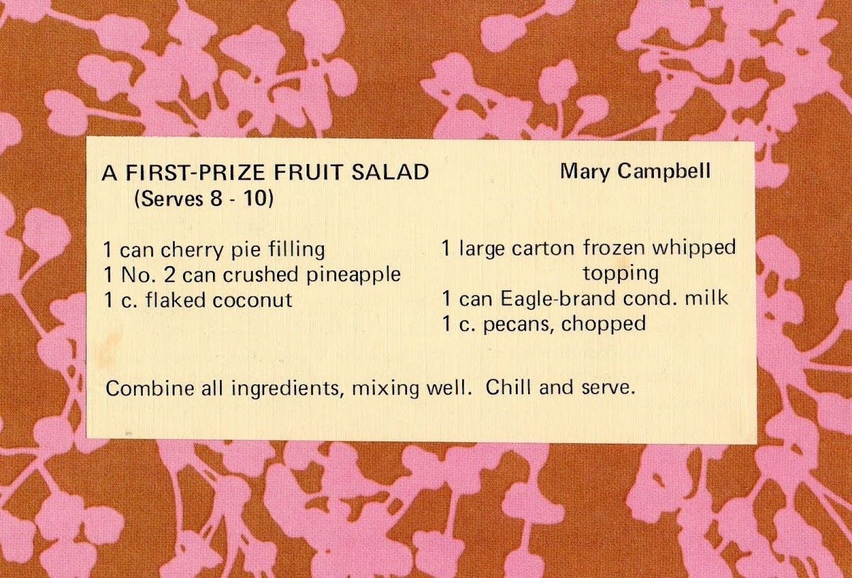 A First-Prize Fruit Salad (quick recipe)