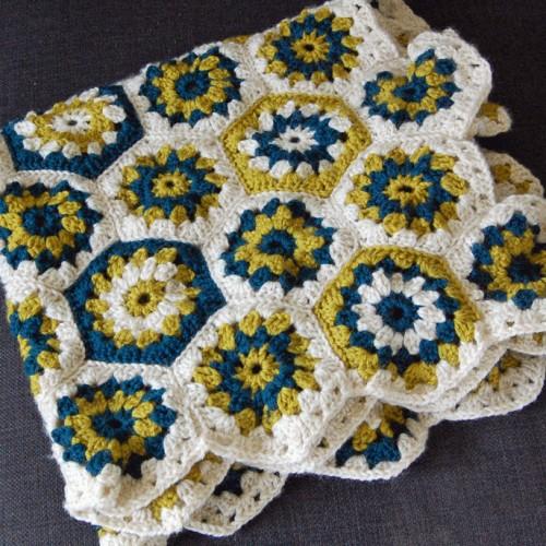 Hexagon Crochet Baby Blanket - Tutorial