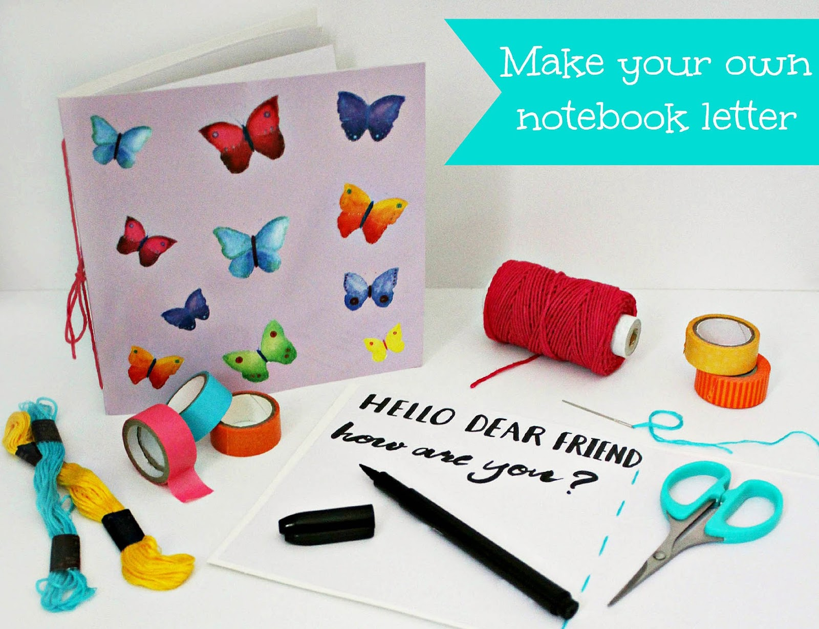 How To Turn A Greeting Card Into A Notebook Letter Rose Tinted