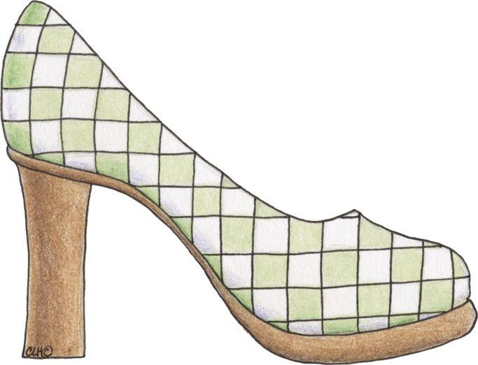 zapato con tacoon de madera dibujos de zapatos de tacon