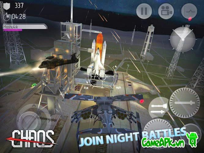 CHAOS Combat Copters HD #1 v6.3.5 hack full vàng & bạc cho Android