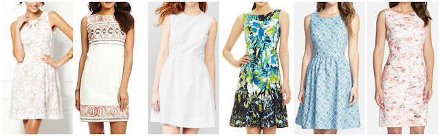 Eva Mendes Collection Maria Lace Dress $39.97 (regular $79.95)  Chelsea & Violet Embroidered Cotton Dress $41.30 (regular $118.00) similar  Gap Striped Seersucker Fit & Flare $41.99 (regular $69.95)  Nine West Sleeveless Palm Print Dress $49.99 (regular $79.00)  Halogen Print Sleeveless Fit & Flare Dress $52.90 (regular $128.00)  Ivanka Trump Crepe Sheath Dress $82.80 (regular $138.00)