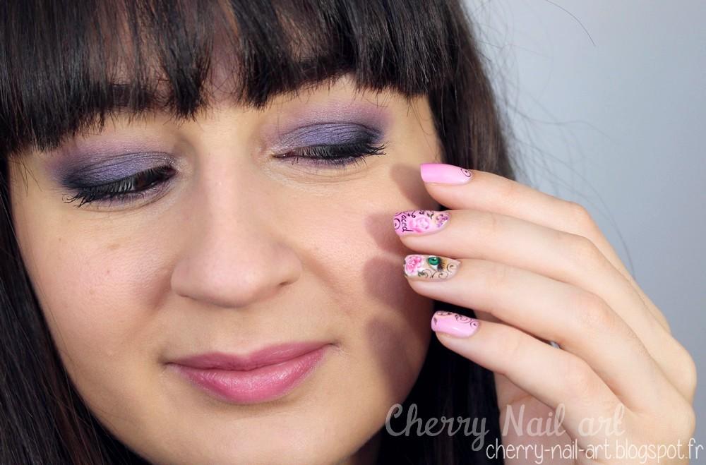 maquillage smoky eyes violet rose pour le printemps
