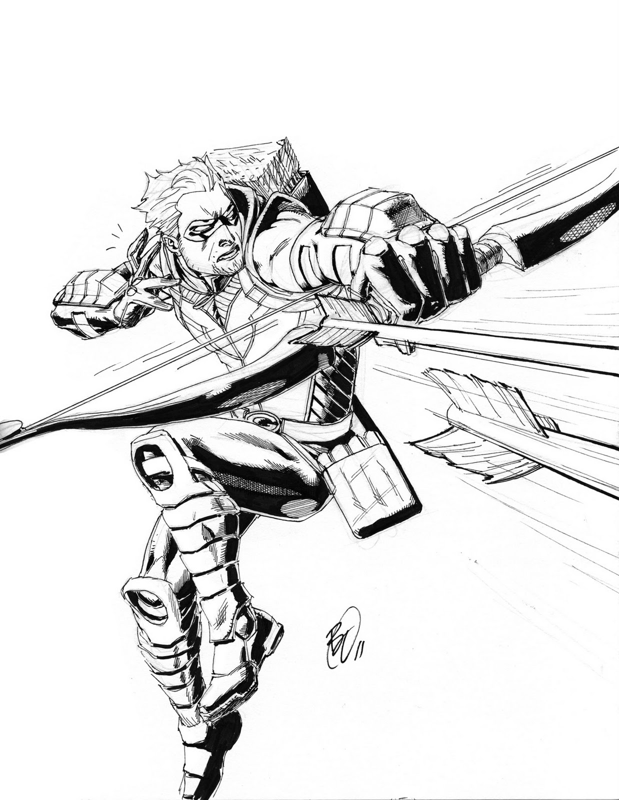 benjamins new 52: green arrow - Green Arrow Coloring Pages