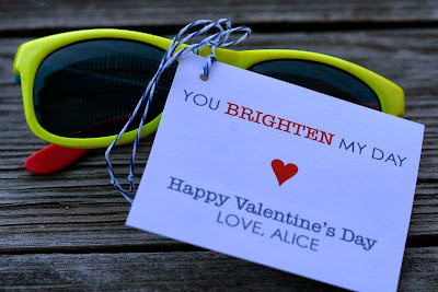 DIY Valentines - sunglasses