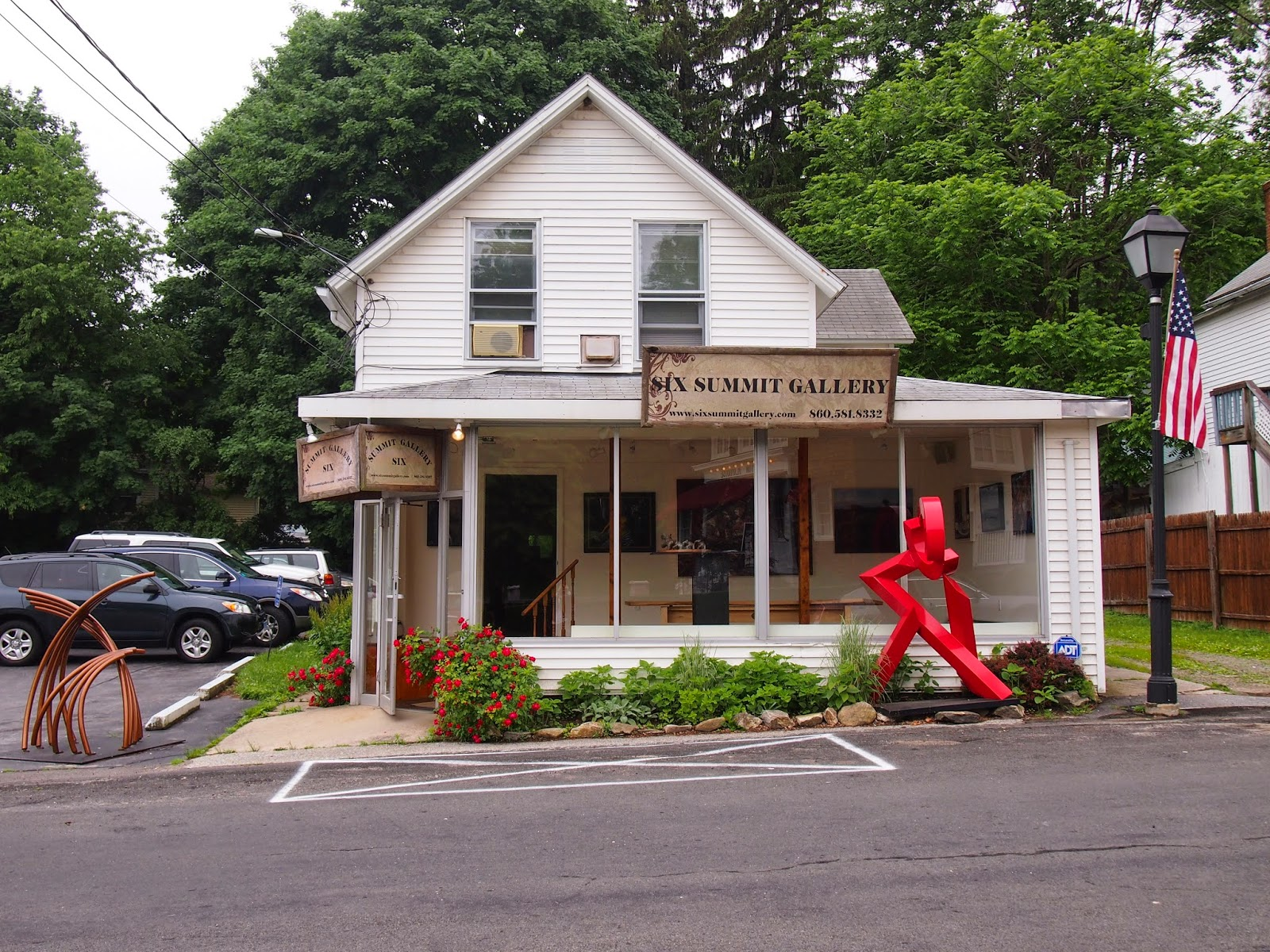 a small art gallery in Ivoryton
