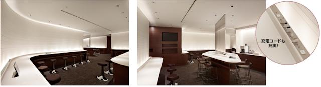 Newly opened Sakura Lounge at Sapporo New Chitose