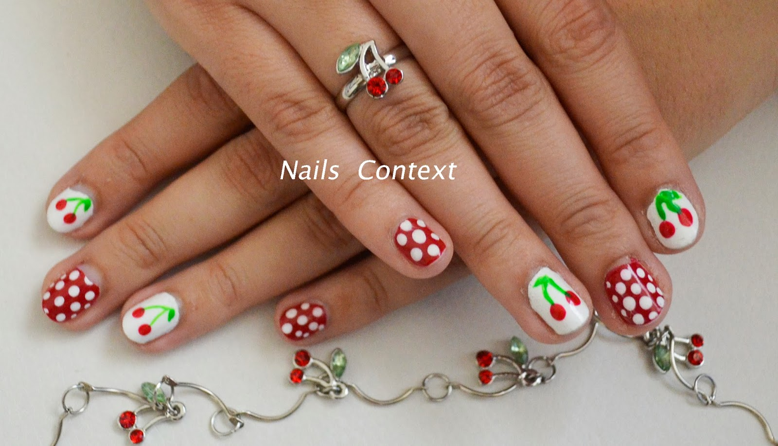 Hi All Today I Am Sharing The Very Cute Cherry Nail Art With You It Is One Of My Favorite Designs And They Look So On Finger Nails
