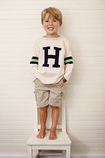 monogrammed striped sweater for kids