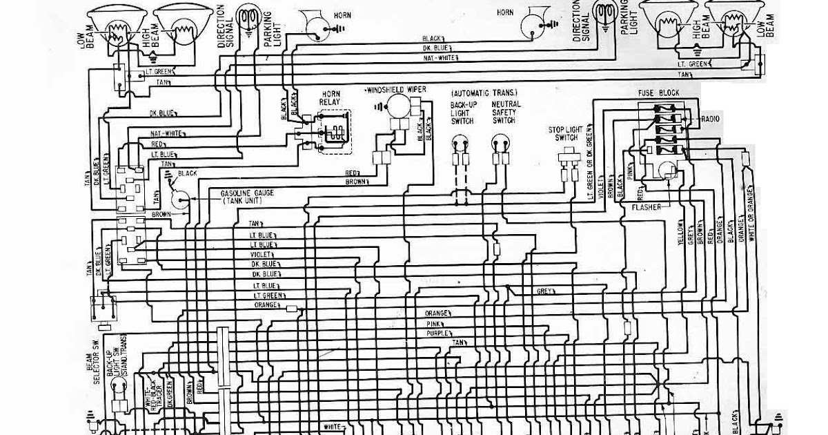 1961 Chevrolet Corvair Electrical Wiring Diagram All