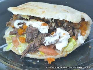 kebab casero con ternera estofada