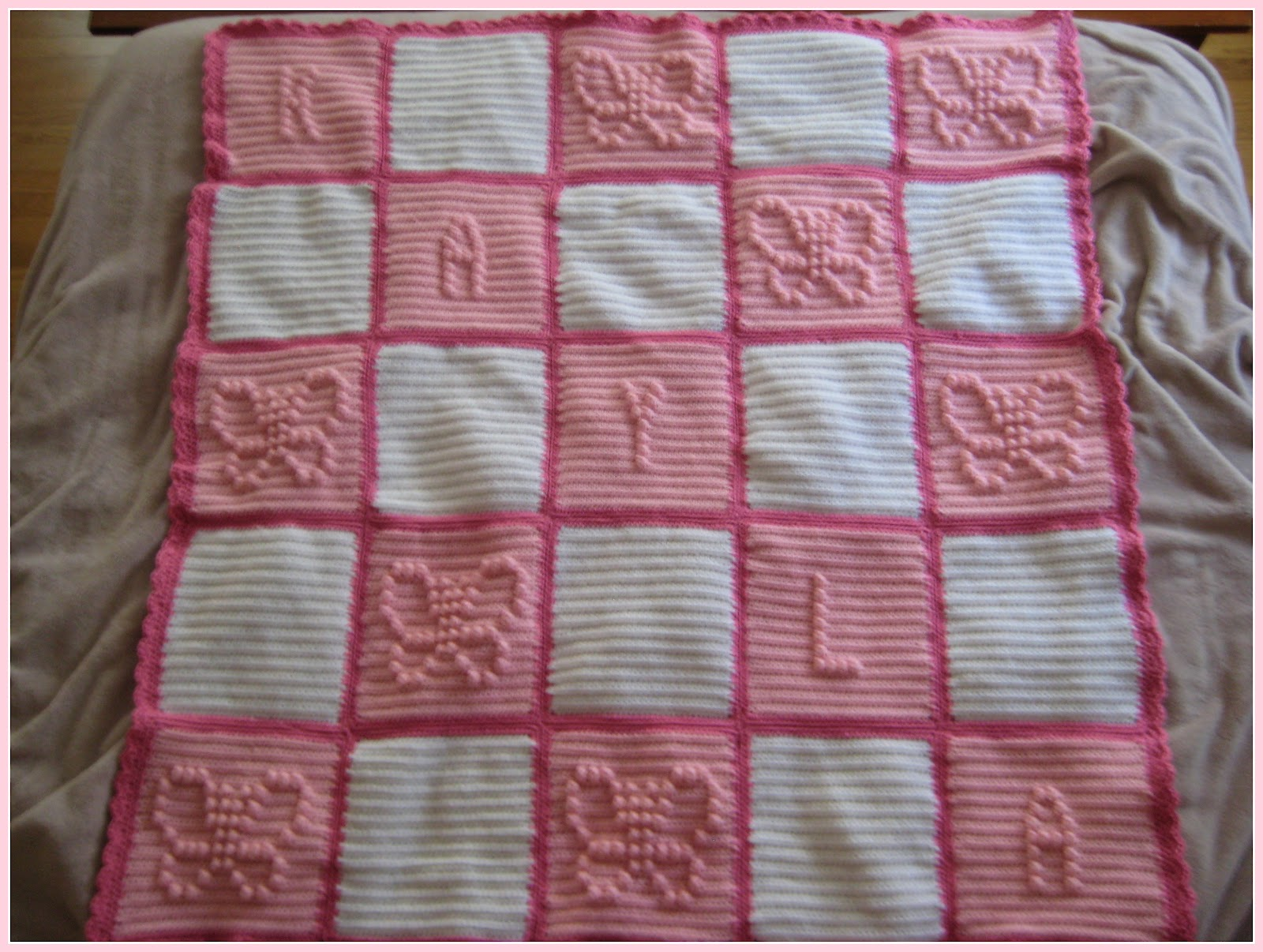 Knitting Pattern For Popcorn Baby Blanket : a blanket 2 keep: crochet show & tell: baby blanket #4