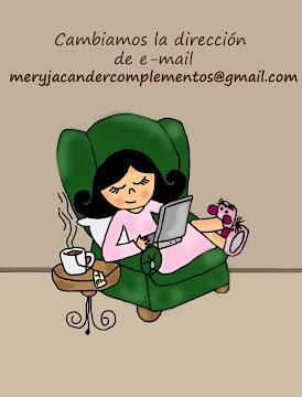 Enviame un e-mail con tu pedido: meryjacandercomplementos@gmail.com