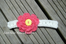 Easy Puff Stitch Crochet Headband