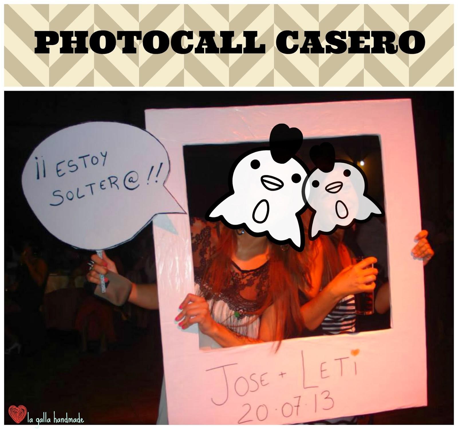 La galla handmade photocall casero - Photocall boda casero ...