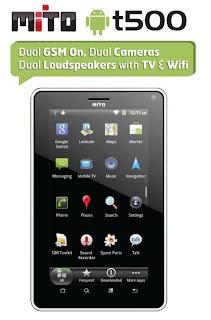 Harga dan Spesifikasi Mito T500 Tablet Android Terbaru 2012
