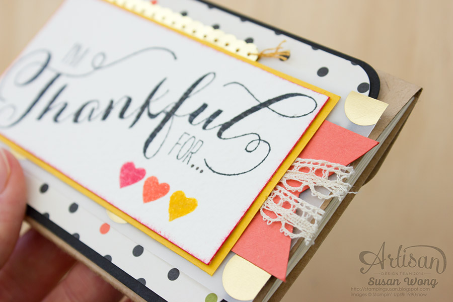 I'm Thankful For Concertina cover detail ~ Susan Wong