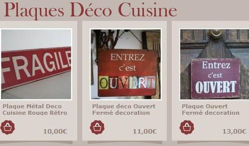 Objets d co cuisine for Plaque de zinc pour cuisine
