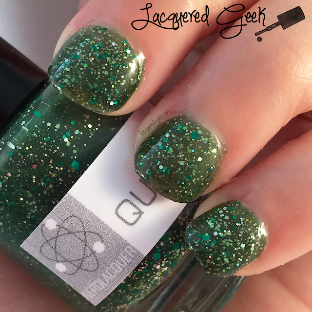 Nerd Lacquer Quasar nail polish swatch by Lacquered Geek