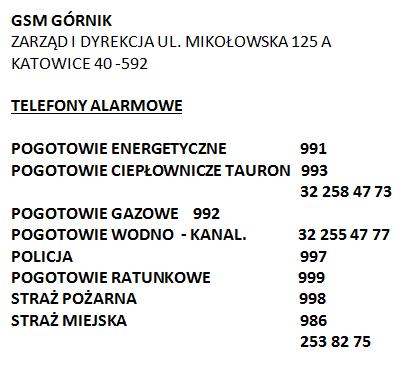 GSM GÓRNIK - TELEFONY ALARMOWE