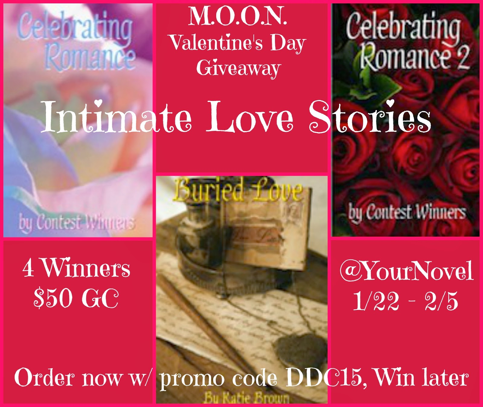 4 Winners! Intimate Love Stories $50 Gift Code Giveaway + A Special Disappearing Discount Through Valentine's Day. Don't miss It!