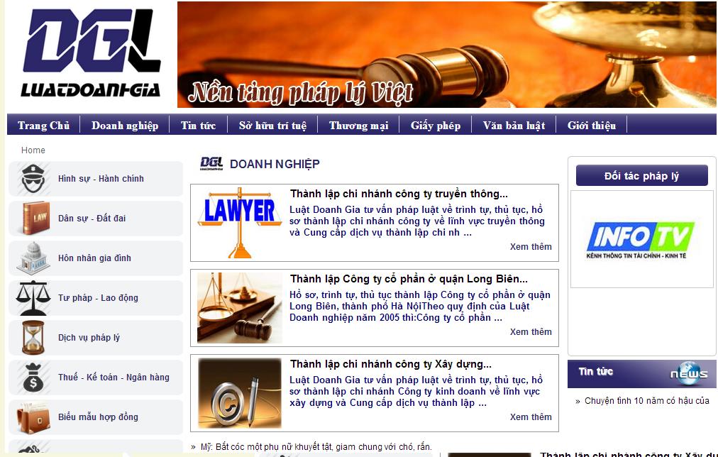 Template Blogspot Văn Phòng Tư Vấn Luật, Theme Blogger Chuyên Nghiệp