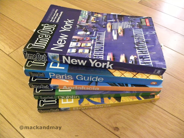 photo of city travel guide books