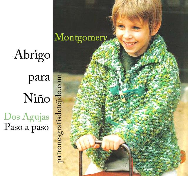 Montgomery para niño de 4 años con dos agujas