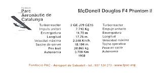 Característiques del McDonell Douglas F4 Phantom II de l'FPAC.
