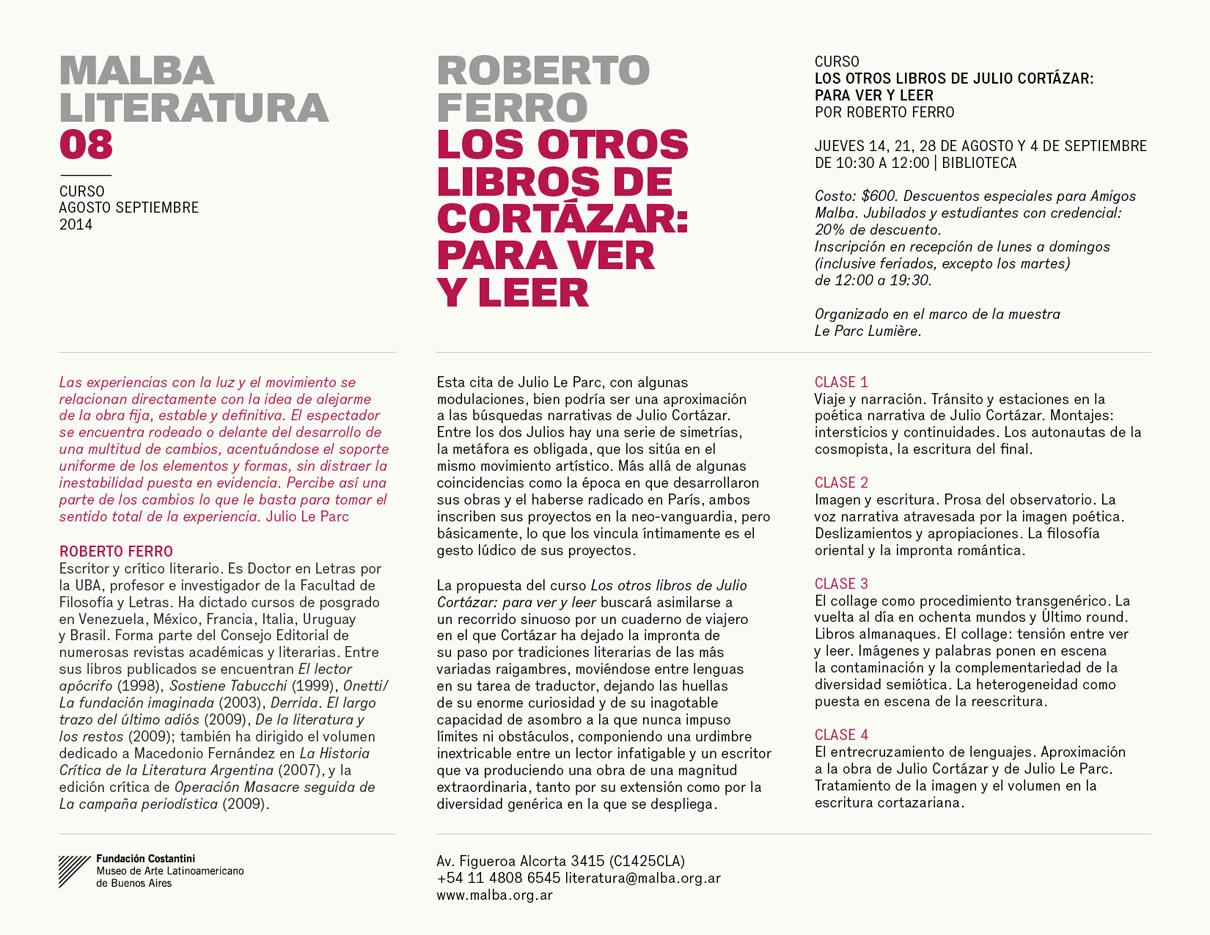 Curso sobre Julio Cortázar por Roberto Ferro