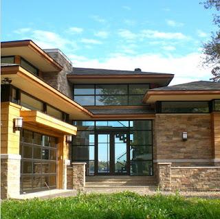 Fachadas de casas modernas for Fachadas de casas modernas con piedra de una planta