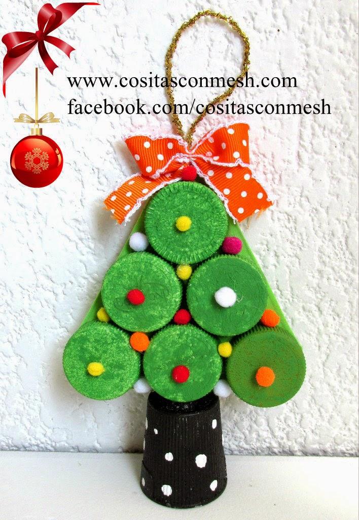 Arbolitos navide os para hacer con ni os cositasconmesh - Adornos de navidad para hacer con ninos ...