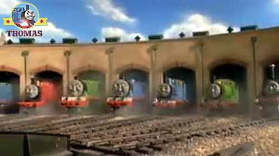 Percy the green engine James the train Gordon the big engine and the other Thomas 7 friends puzzled