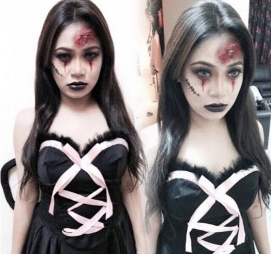 Kostum Halloween Fara Mendoza