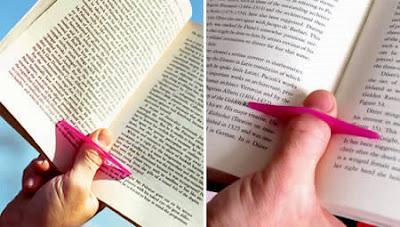 objeto para detener las paginas del libro mientras se lee