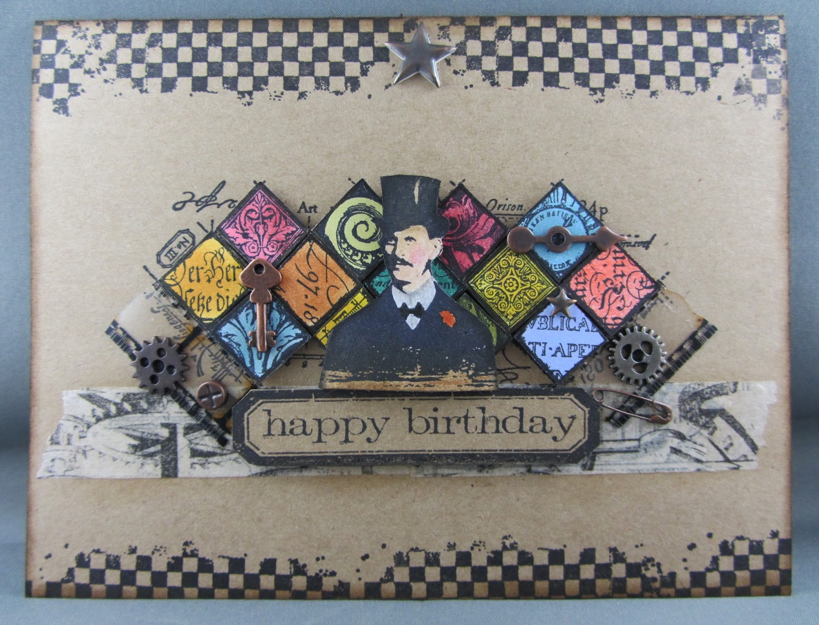 Scraps From A Broad Manly Birthday Card – Manly Birthday Cards