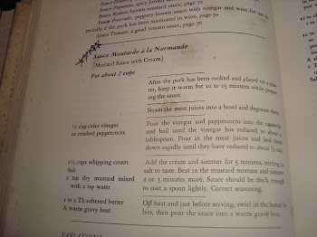 Julia Child Recipe Sauce Moutarde a la Normade