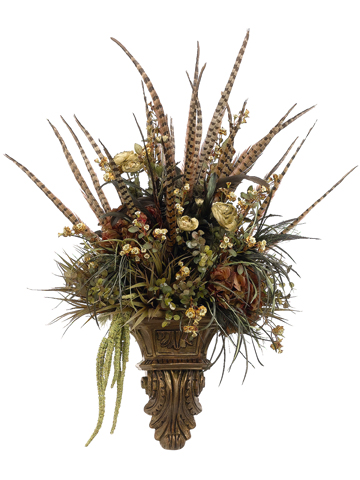 Decorative Floral Wall Sconces : Ana Silk Flowers: Images!!!...Wall Sconces Silk Flowers Arrangements!!!