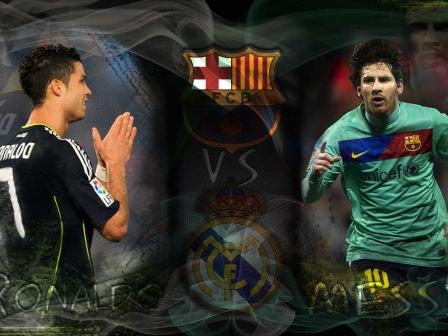 Lionel Messi Vs Cristiano Ronaldo Wallpaper 2012