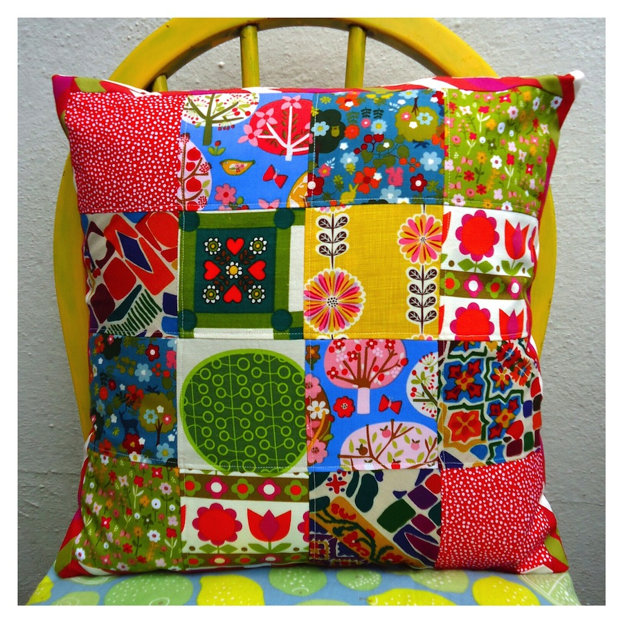 Stashbuster Patchwork Cushion by Ivy Arch