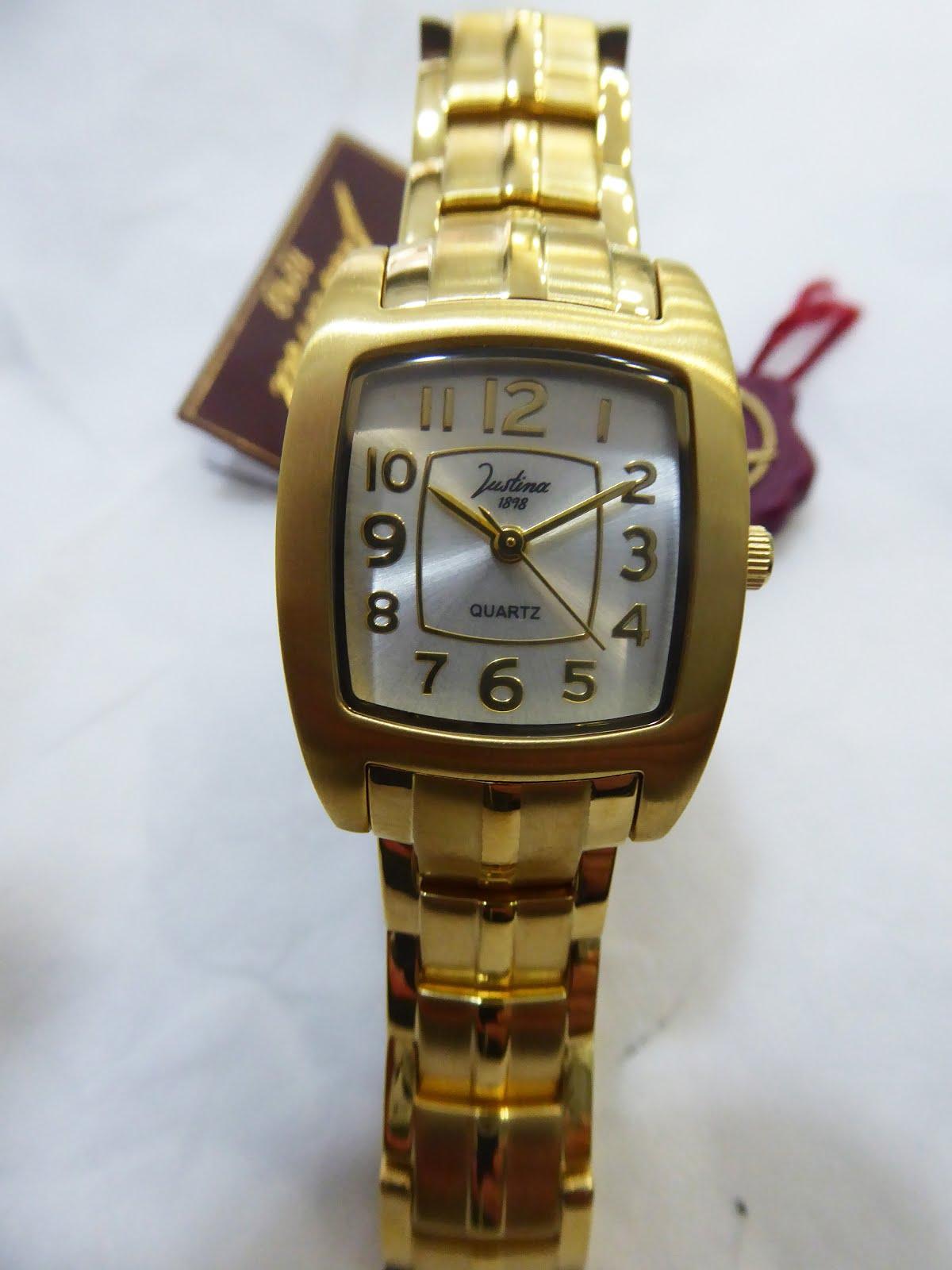 Reloj Justina de mujer, acero dorado