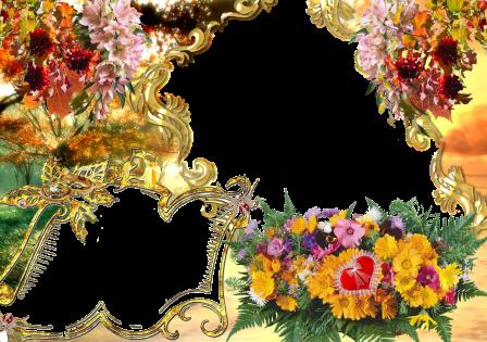 Photo Design Frame Flowers Photo Frames Designs